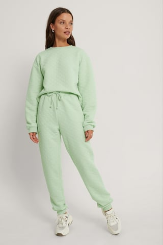 Mint Structured Joggers