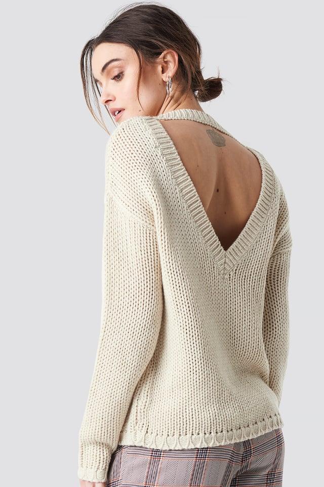 Liza Deep Back Knit Sand