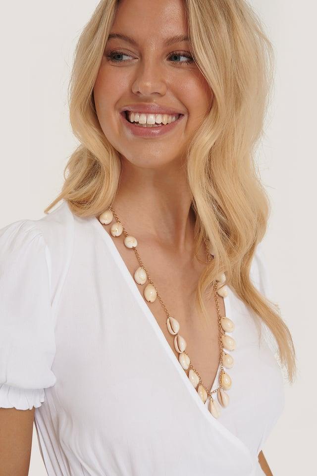 Natural Long Shell Layered Necklace