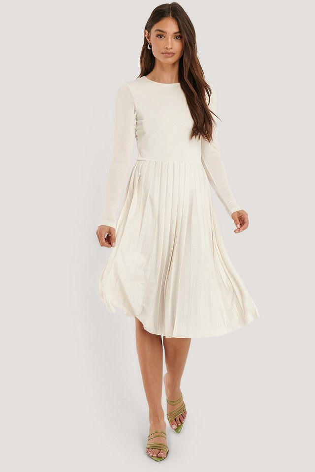 Midikleid White