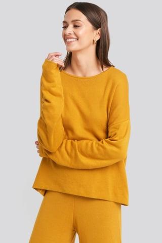 Mustard Lounge Round Neck Sweater