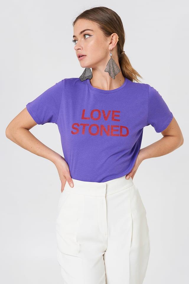 Love Stoned Tee Purple