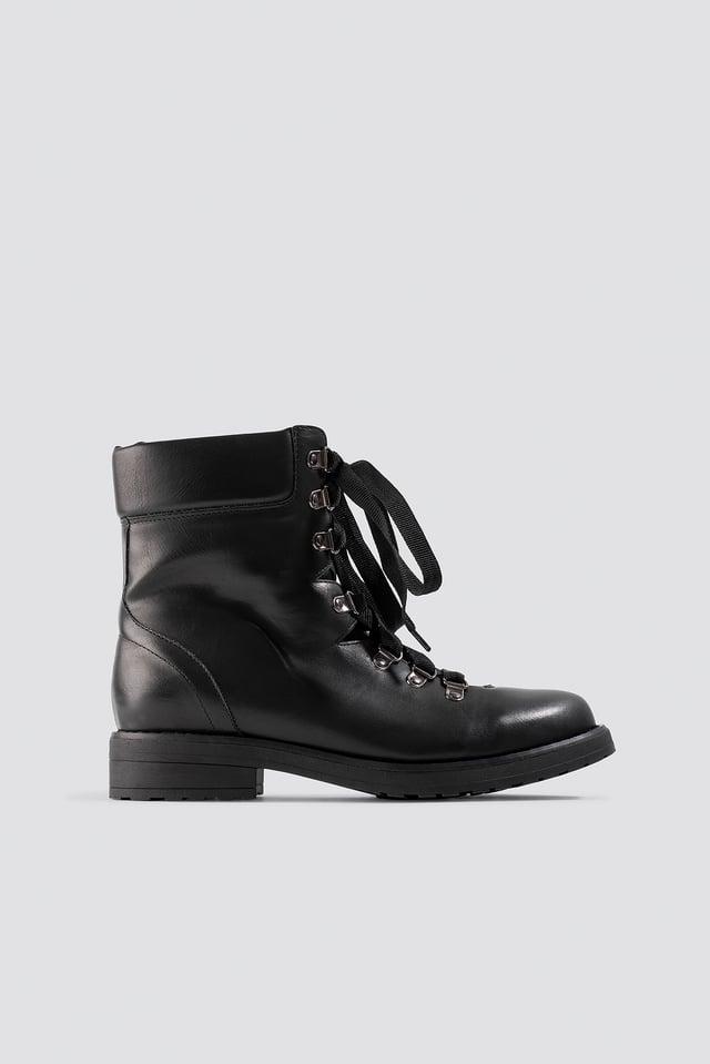Low Combat Boots Black