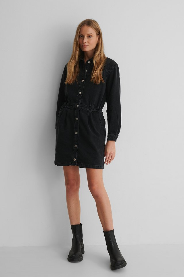 Black Denim Luna Dress