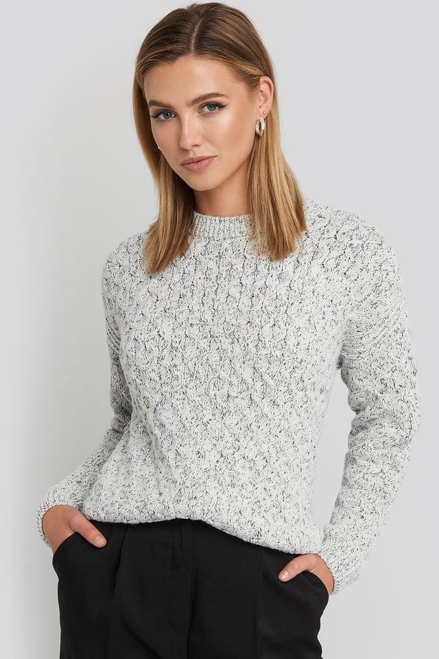 Light Grey Melange Maddy Sweater