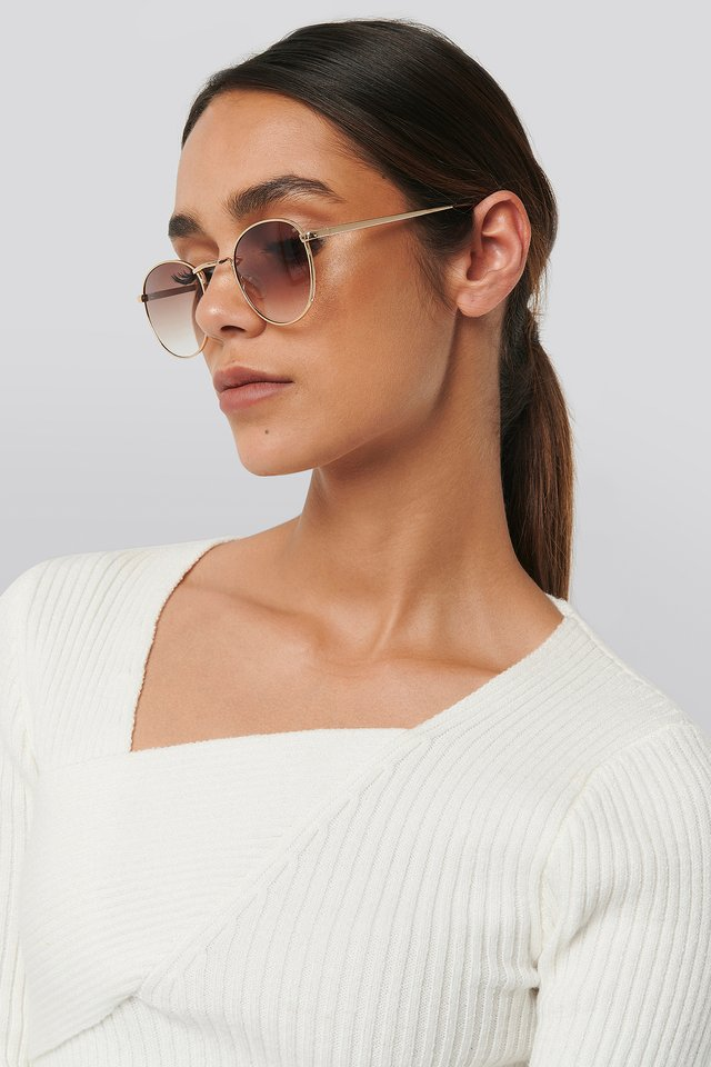 Brooklyn Sunglasses Gold