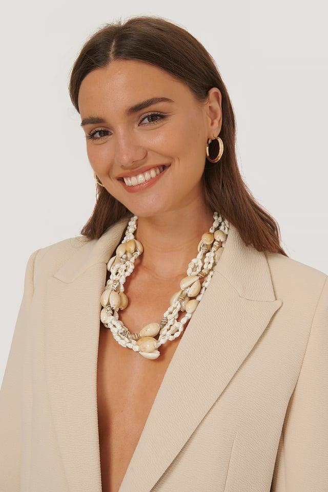 Concha Necklace White