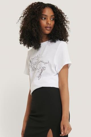 White T-Skjorte