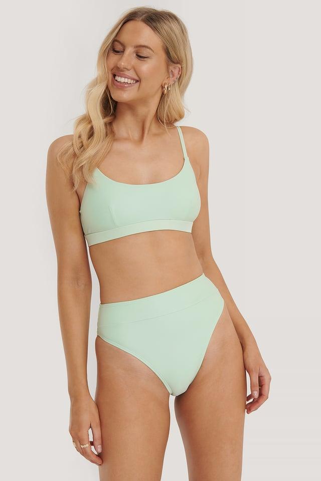 Maxi Highwaist Bikini Panty Green