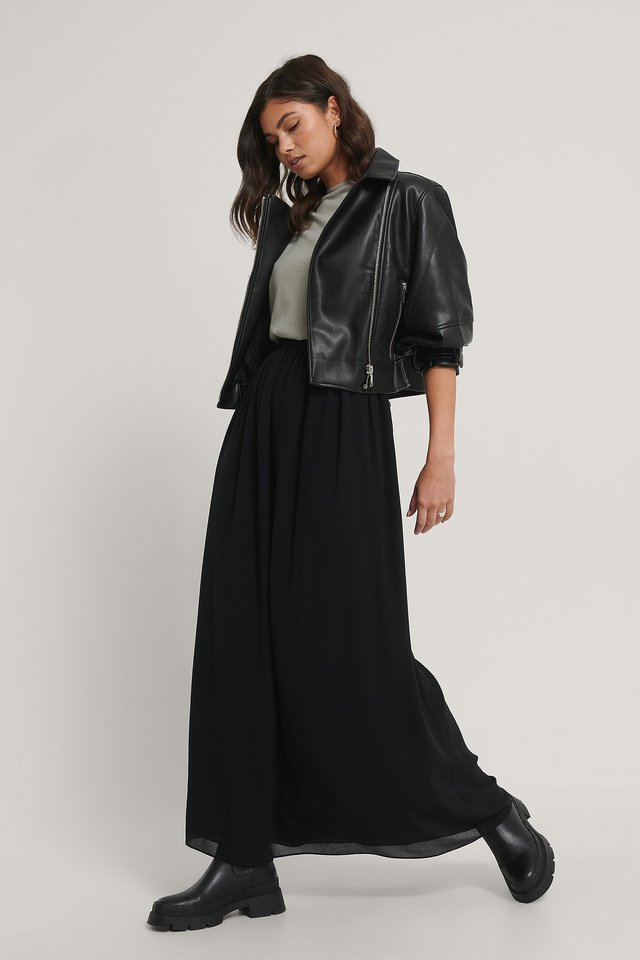 Black Maxi Sheer Skirt