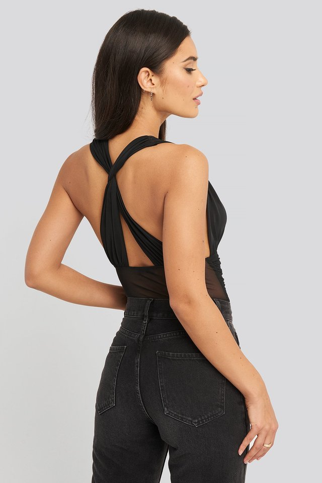 Mesh Cross Back Body Black