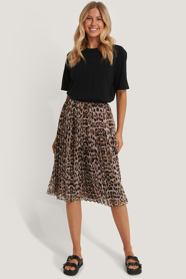 Midi Pleated Skirt Leo