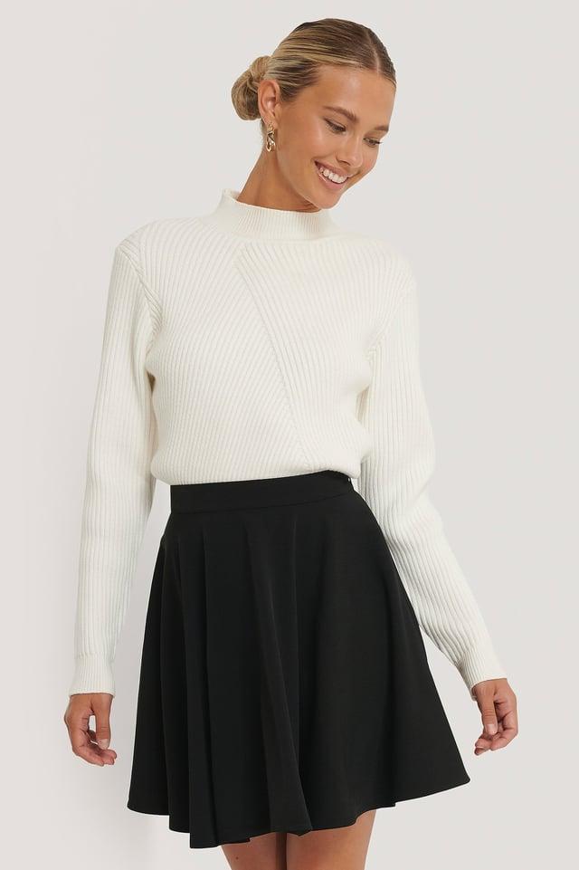 Mini Circle Skirt Black