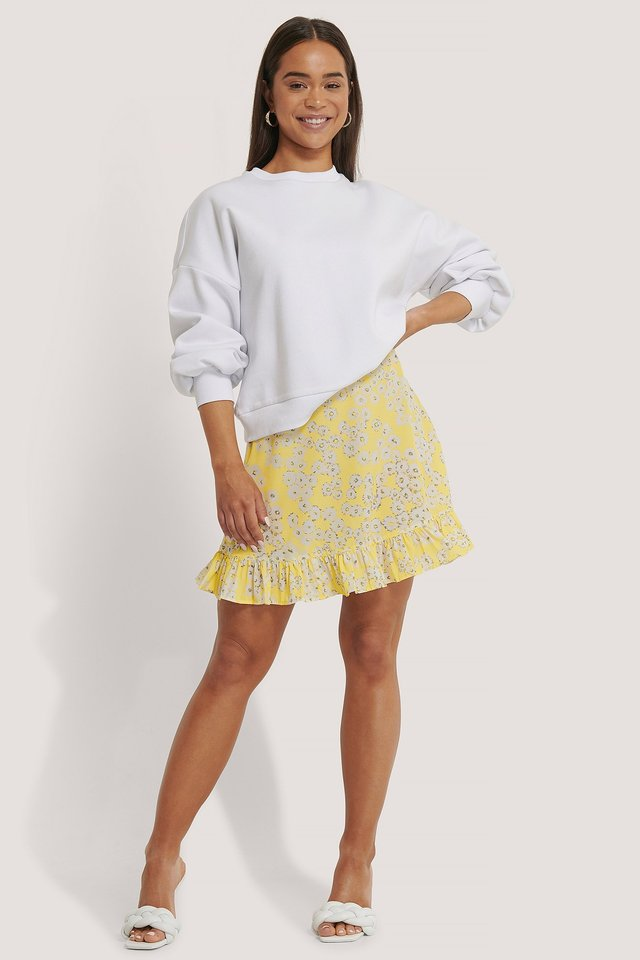Mini Flounce Skirt Print