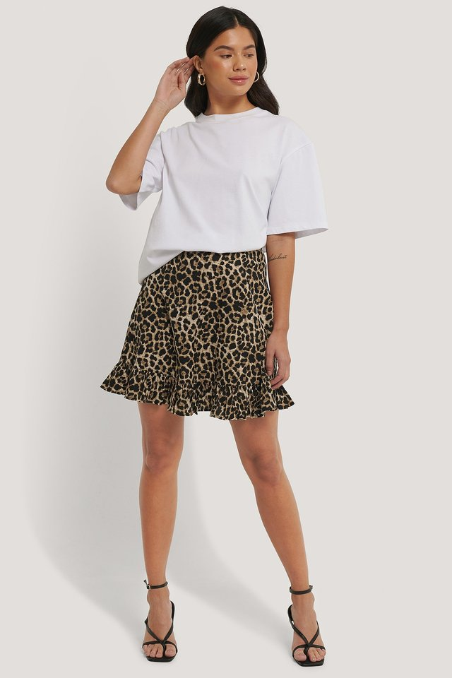 Mini Flounce Skirt Leo