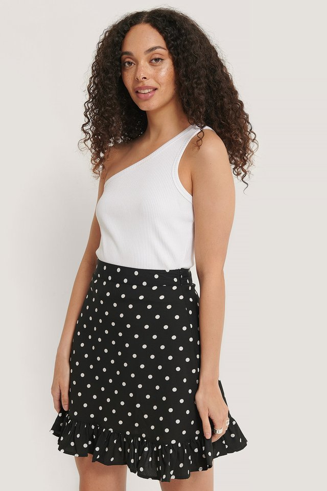 Mini Flounce Skirt Dots
