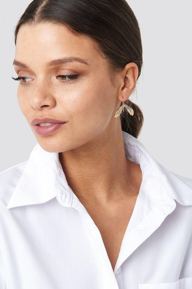 Mini Leaf Earrings Gold