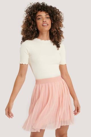 Rose Quartz Mini Pleated Skirt