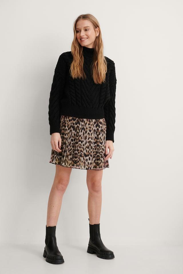 Leo Mini Pleated Skirt