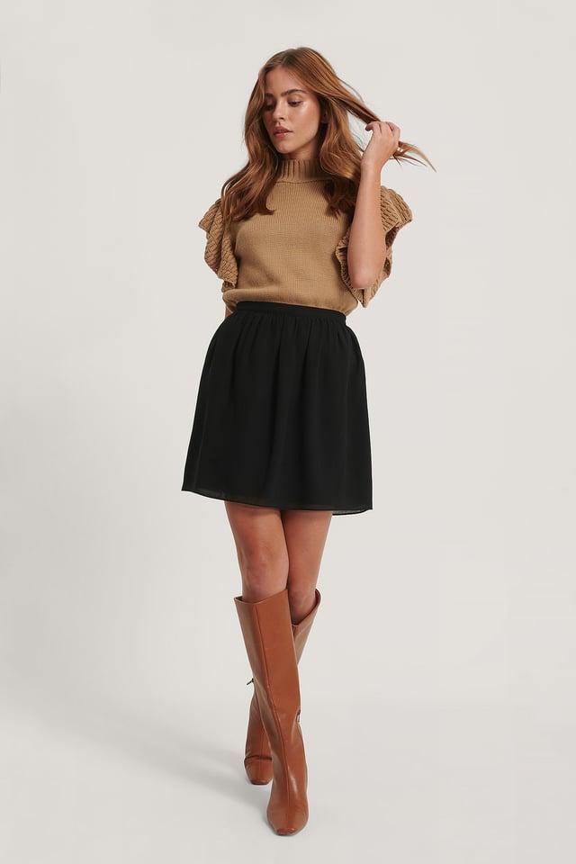 Mini Sheer Skirt Black