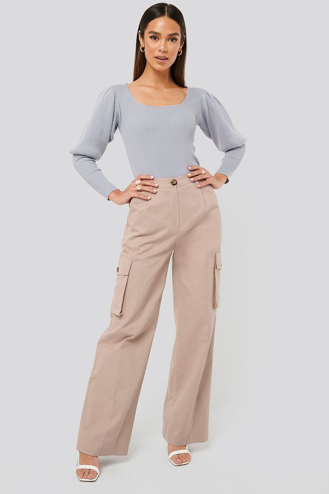 Big Pocket Cargo Pants Pale Mauve