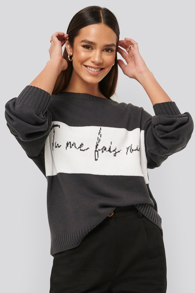 Tu Me Knitted Sweater Black