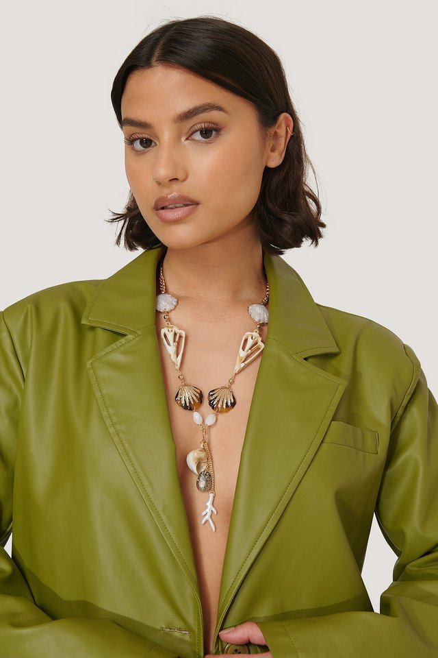 Collar Con Colgante Marino Mixto Multicolor