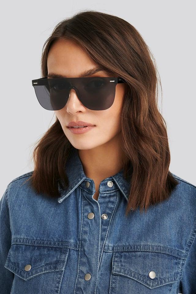 Black Monolens Screen Sunglasses