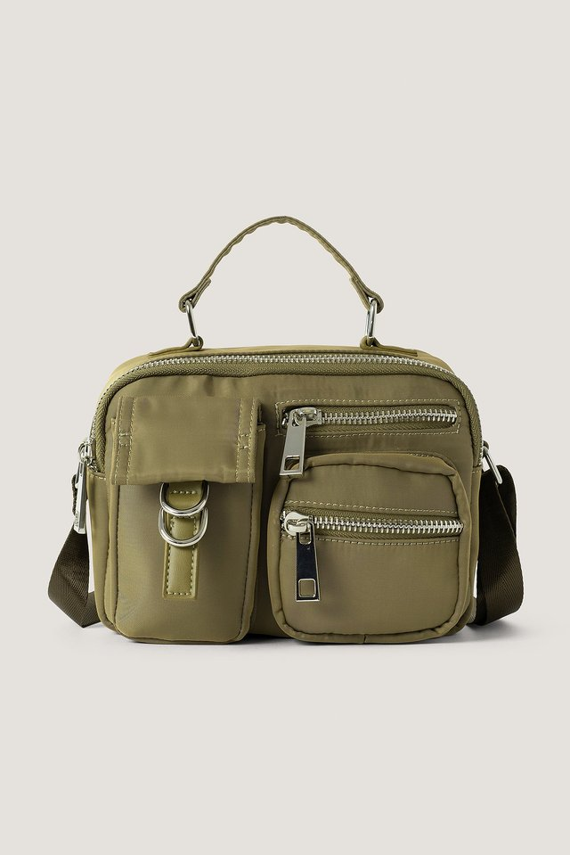 Dusty Green Crossbody-Laukku Nailonia