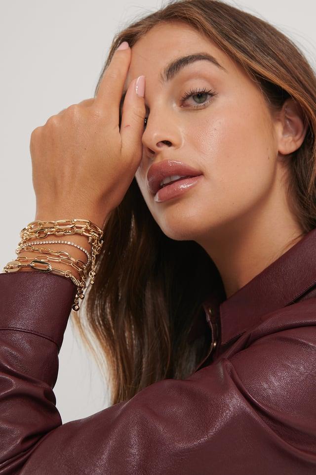 Multi Layered Chain Bracelets Gold