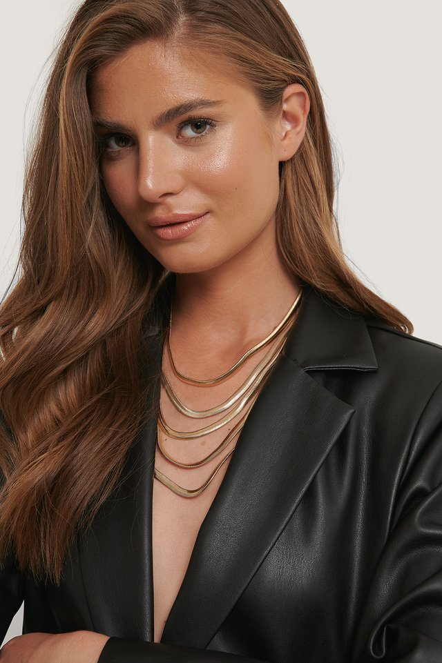 Halskette Mit Mehreren Ketten Gold