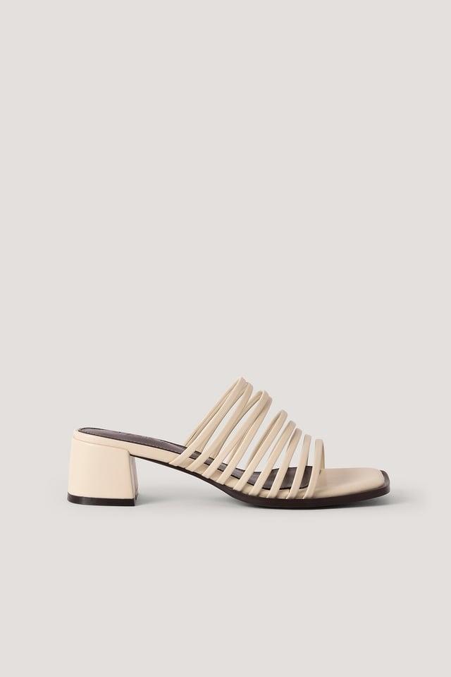 Blokhaksandalen Met Meerdere Bandjes NA-KD Shoes