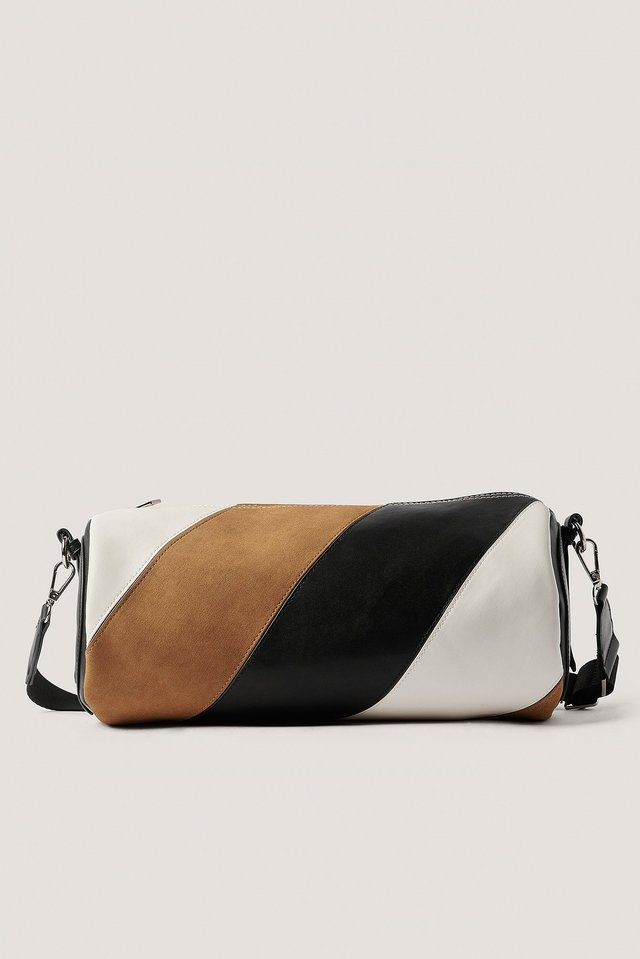 Black/Brown Multi Toned Barrel Bag