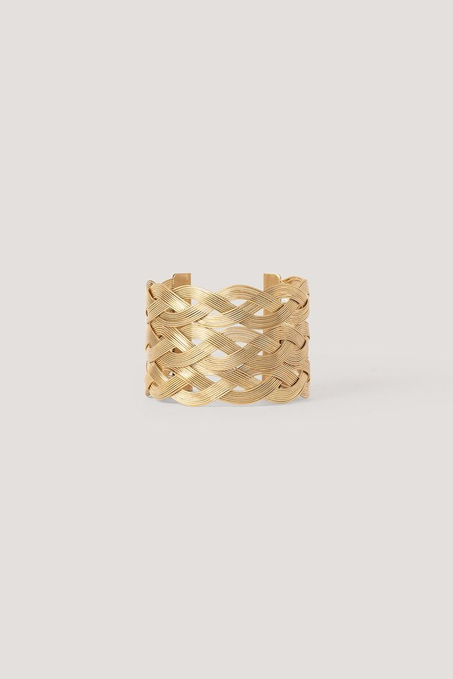 Multi Wavy Armcuff Gold