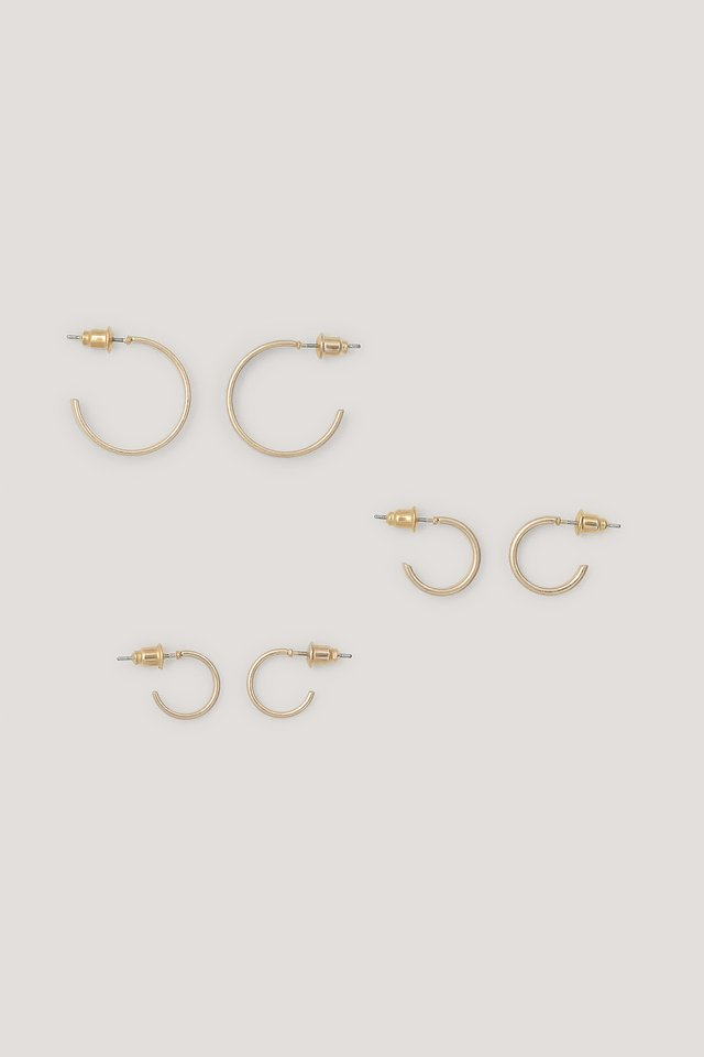 Multipack Matte Basic Hoops NA-KD Accessories