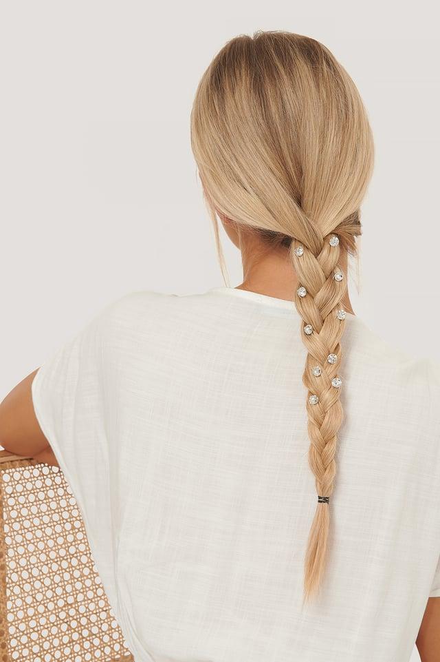 Silver Multipack Rhinestone Hairpins