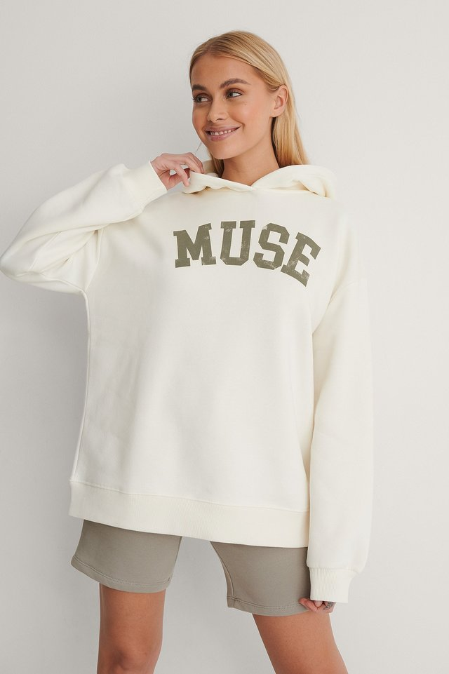 Offwhite Muse Oversized Printed Hoodie