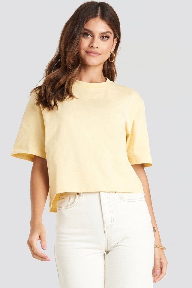 Oversized Short Tee Light Yellow