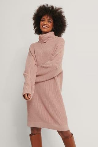 Dusty Pink Heavy Knit Sweater