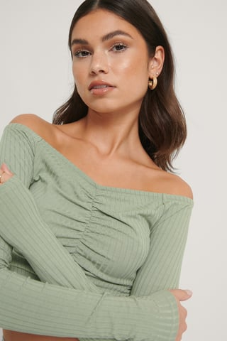 Khaki Off Shoulder -Toppi