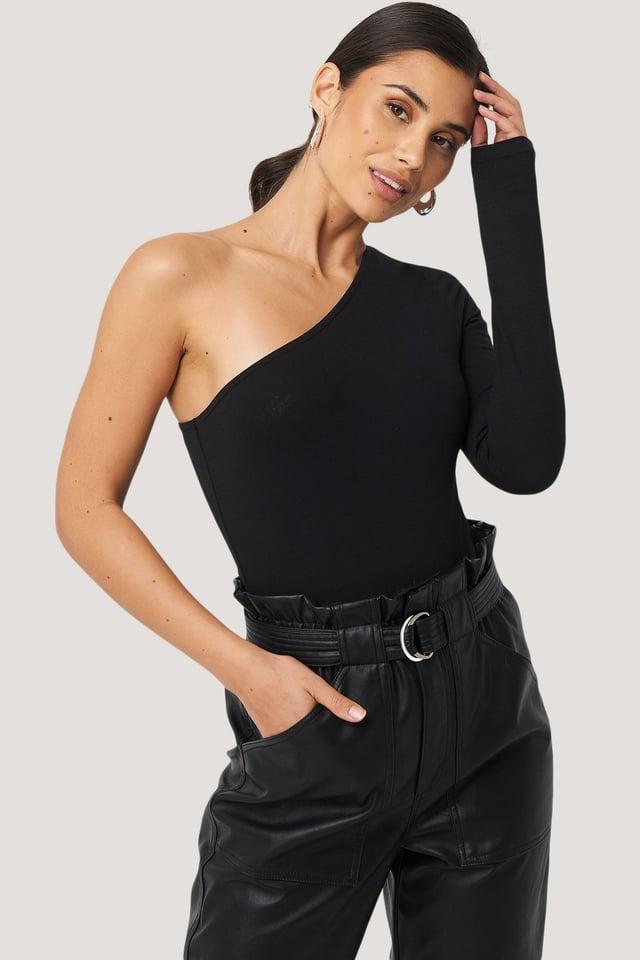 Black One Shoulder Body