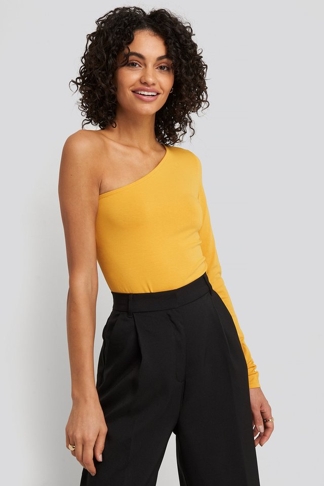 One Shoulder Body Mustard