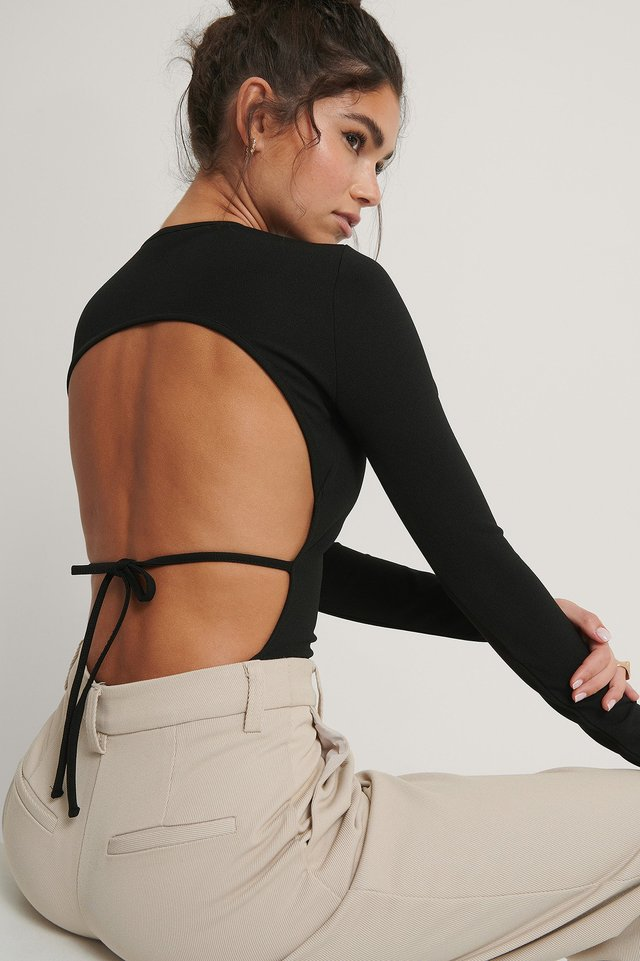 Open Back Body Black