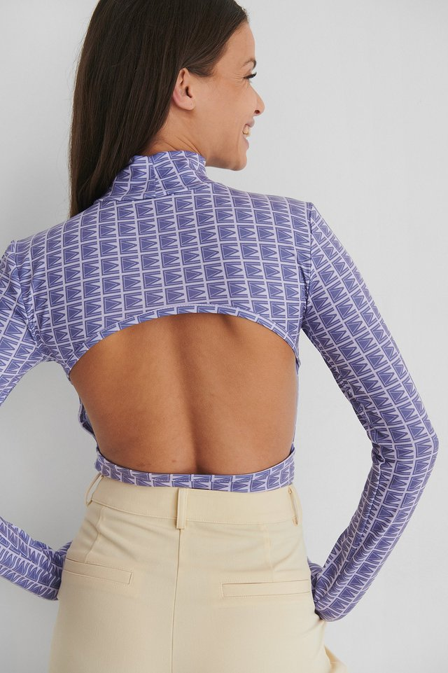Open Back Body Suit Lilac