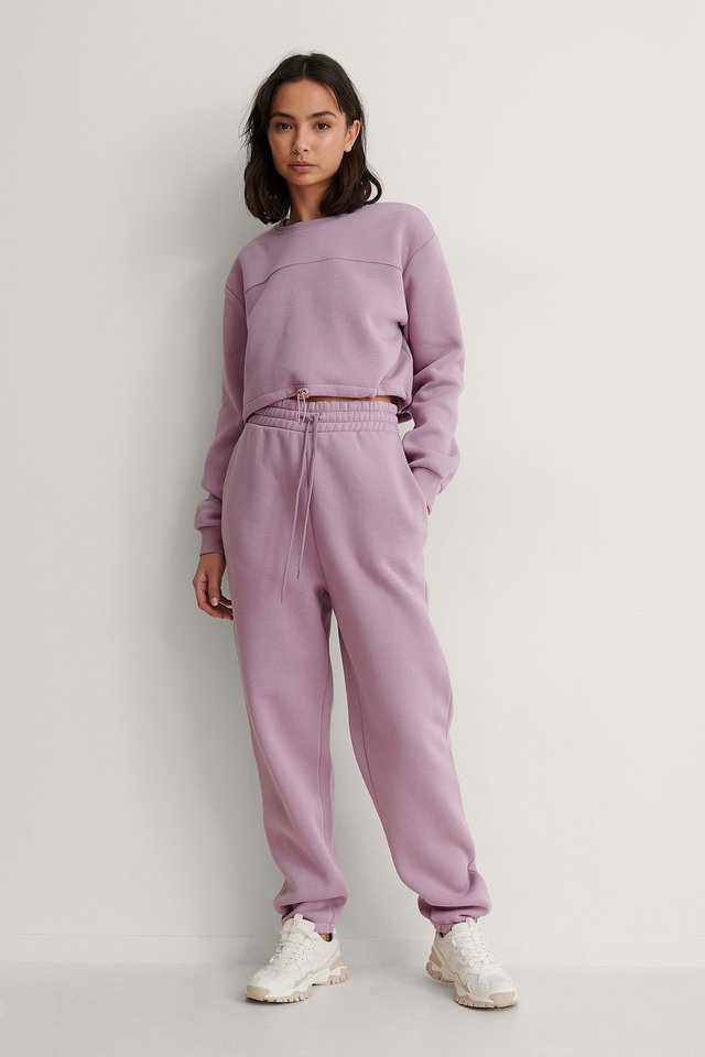 Dusty Lilac Ekologiska Mjuka Sweatpants