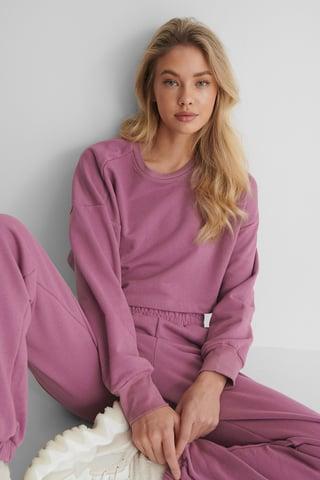 Purple Ekologiczna Krótka Bluza