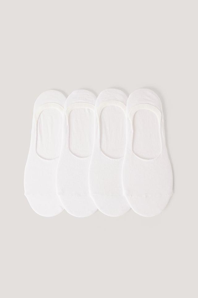 White Organic Footies 4 pack
