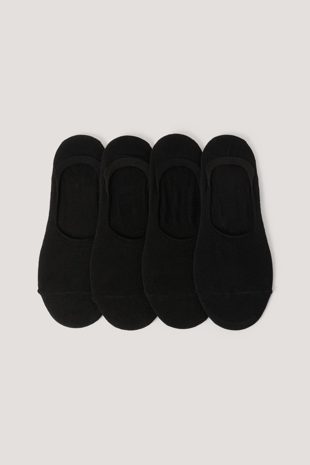 Organic Footies 4 pack Black