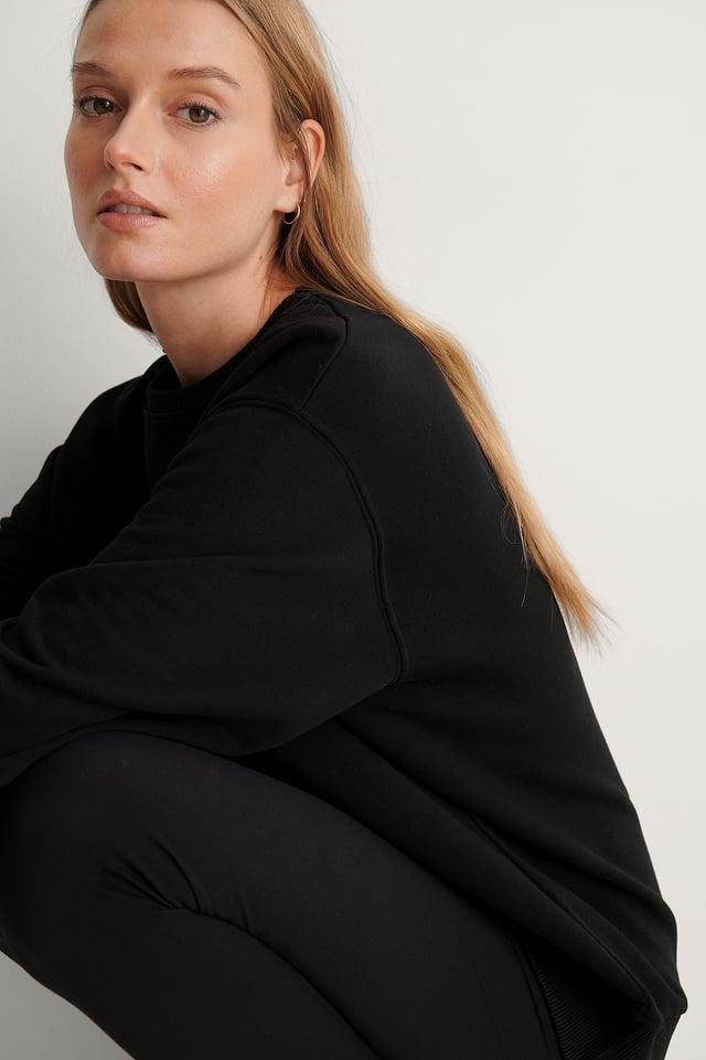 Black Organic Oversized Sweatshirt