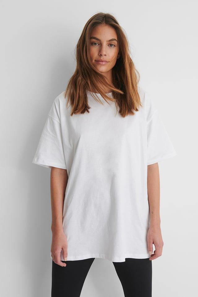 White Ekologisk Oversize T-shirt